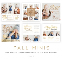 Fall Minis vol 1 Blog, Facebook and Instagram ready Templates1
