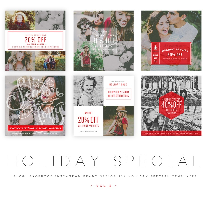 Holiday Special vol 1 Blog, Facebook and Instagram ready Templates1