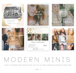 Modern Minis Blog, Facebook and Instagram ready Templates vol 11