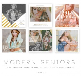 Modern Seniors vol 1 Blog, Facebook and Instagram ready Templates1
