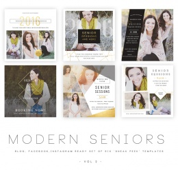 Modern Seniors vol 2 Blog, Facebook and Instagram ready Templates1