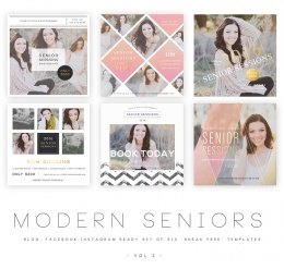 Modern Seniors vol 3 Blog, Facebook and Instagram ready Templates1