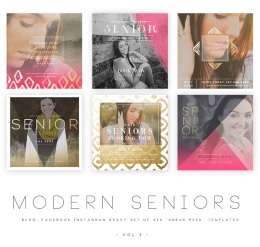 Modern Seniors vol 4 Blog, Facebook and Instagram ready Templates1