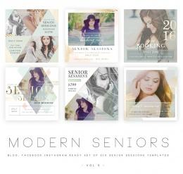 Modern Seniors vol 5 Blog, Facebook and Instagram ready Templates1