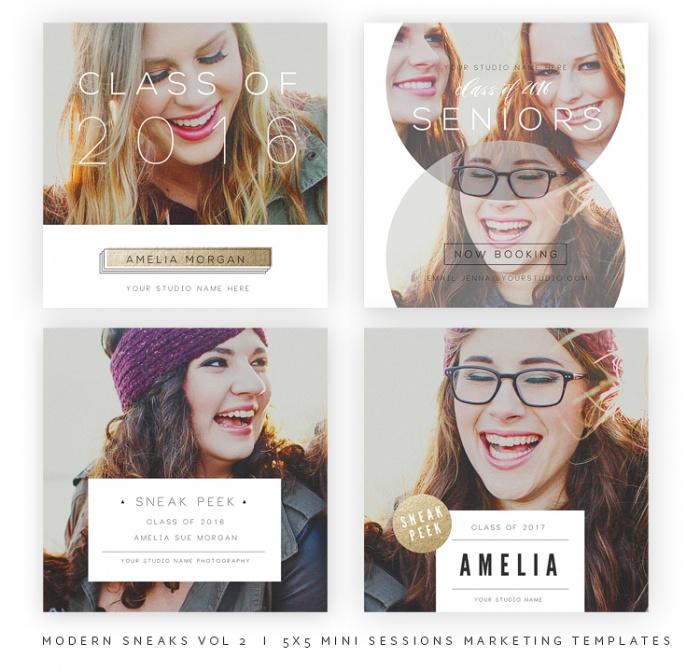 Modern Sneaks - Blog, Facebook and Instagram Sneak Peek Templates vol21