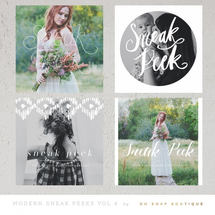 Modern Sneaks - Blog, Facebook and Instagram Sneak Peek Templates vol41