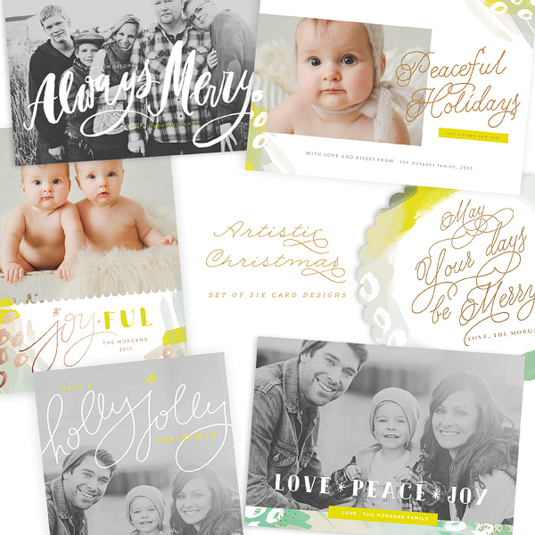 Artistic Christmas Cards Bundle Oh Snap Boutique