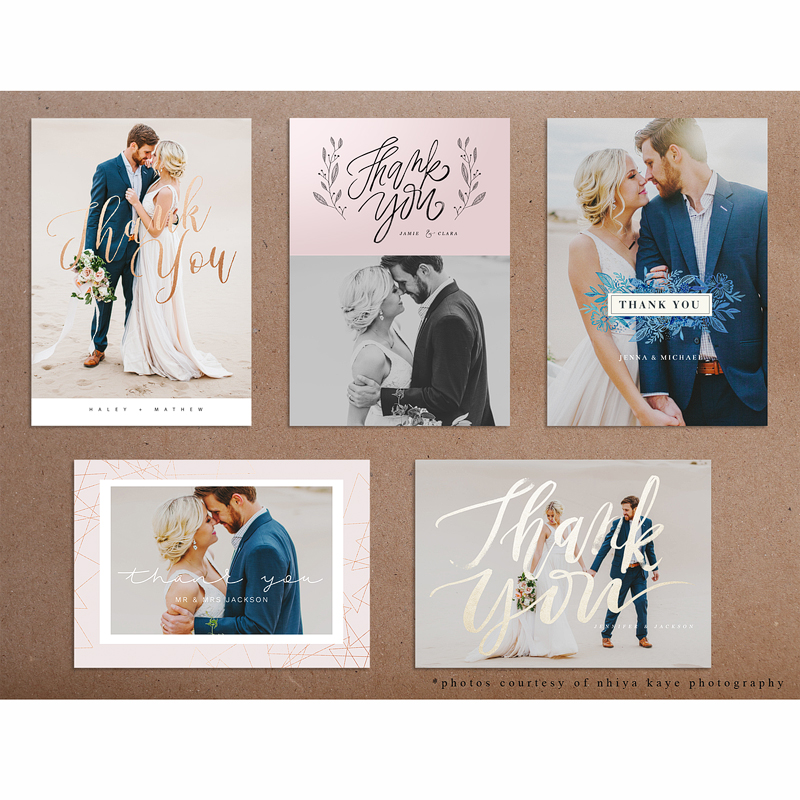 Wedding Thank You Cards Oh Snap Boutique