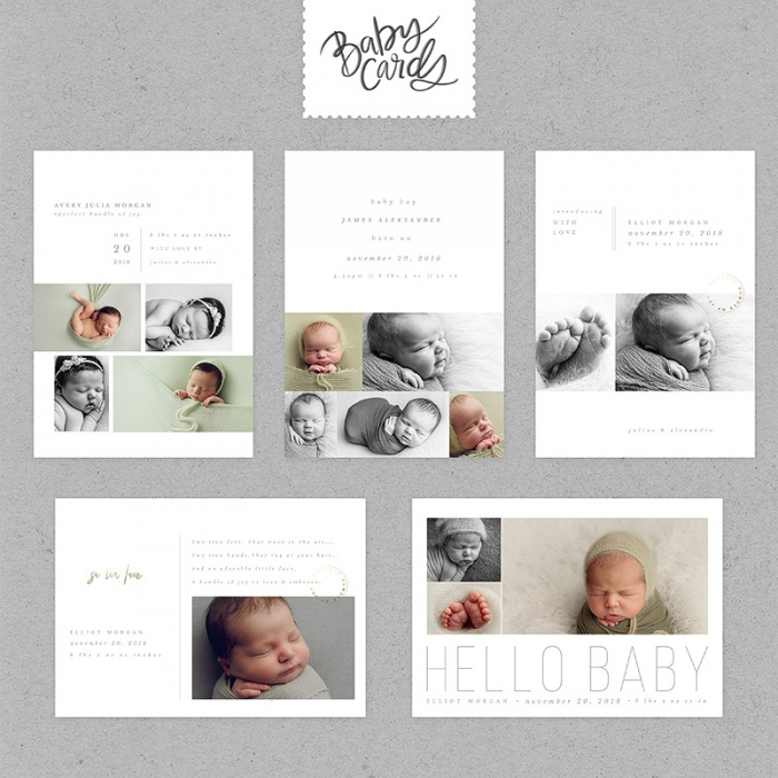 simpletype-baby-cards