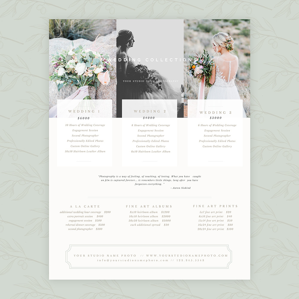 Delicate Wedding 8.5×11 Pricing Guide
