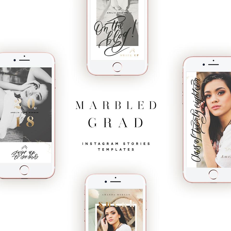 marbled grad cards bonus instagram stories   oh snap boutique
