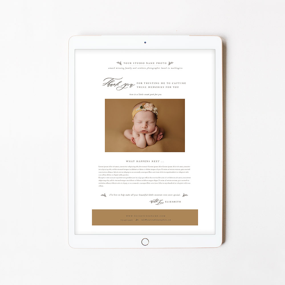 Modern Newsletter Email Template Vol 3 Oh Snap Boutique