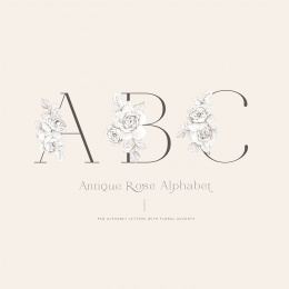 AntiqueRose_alphabet
