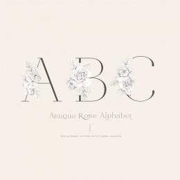 AntiqueRose_alphabet