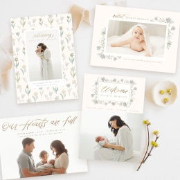 spring_rapsody_birth_announcement_Templates