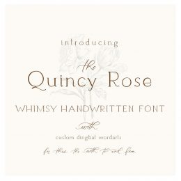 Quincy_rose_font