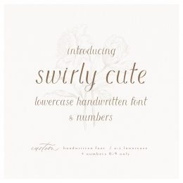 swirly_cute_font