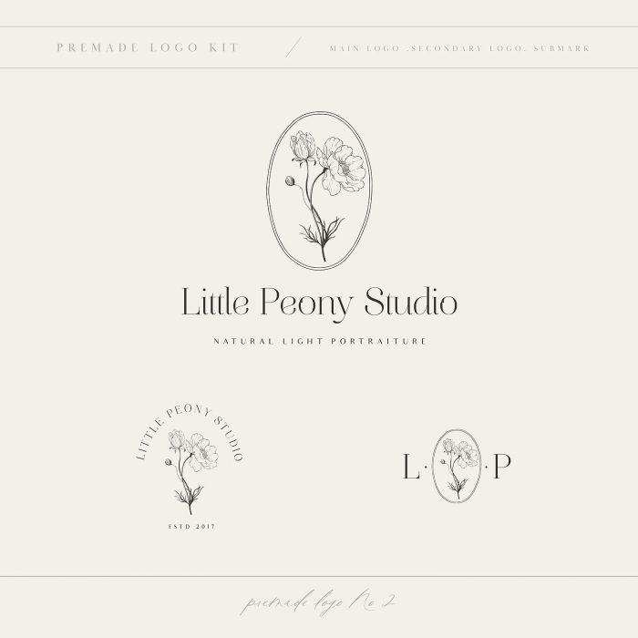 Little_peony_studio_premade_logo